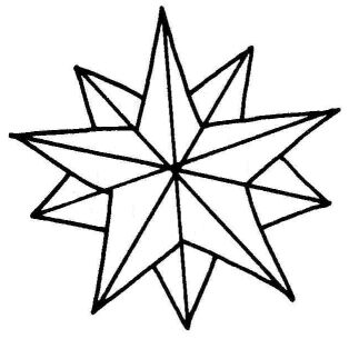 Christmas Star Outline Clipart - Clipart Kid