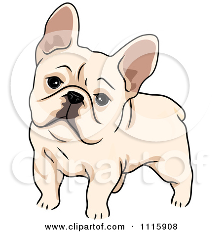 Clipart Cute French Bulldog   Royalty Free Vector Illustration By Bnp