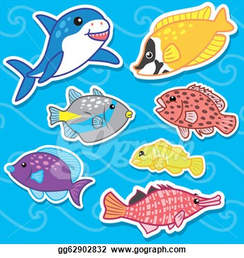 Clipart   Cute Sea Animal Stickers7  Stock Illustration Gg62902832