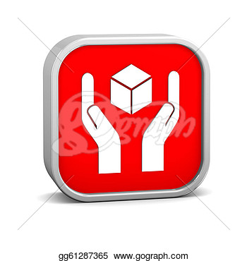 Clipart   Handle With Care Sign On A White Background  Part Of A