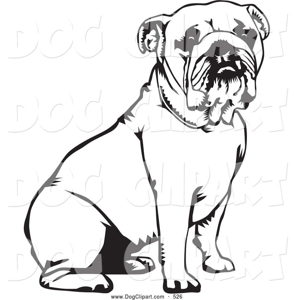 Cute Bulldog Clipart Clip Art Of A Cute And