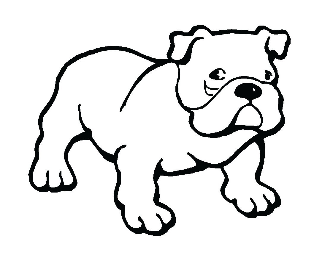 Cute Bulldog Drawing   Clipart Panda   Free Clipart Images