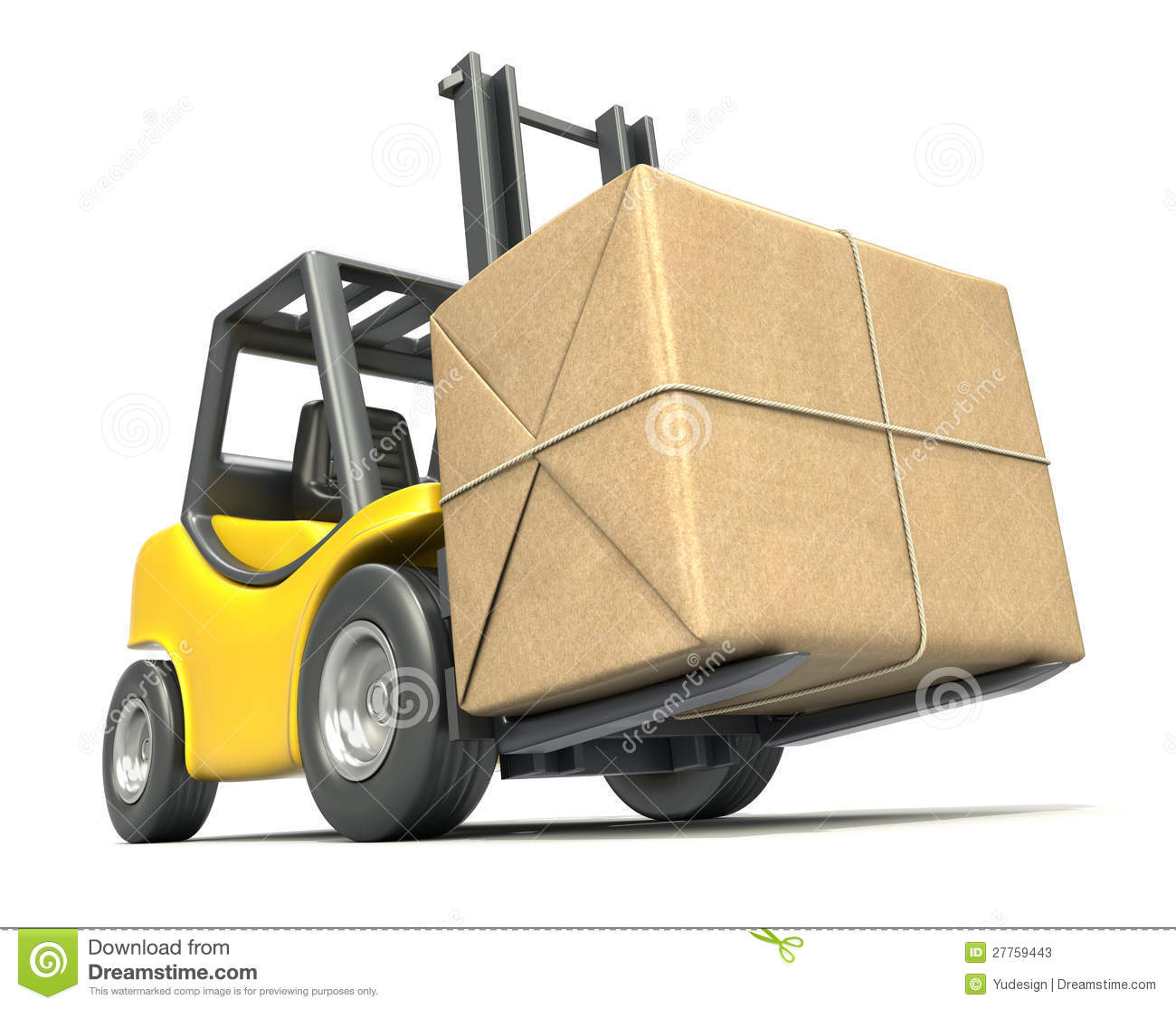 Forklift With Post Package Stock Photos   Image  27759443
