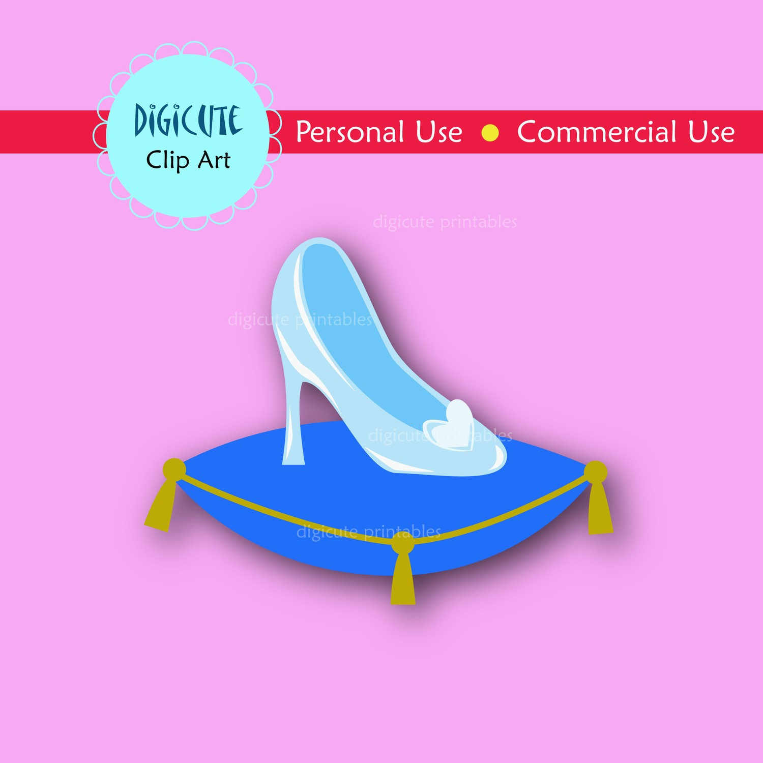Glass Slipper And Pillow Clipart   Cliparthut   Free Clipart