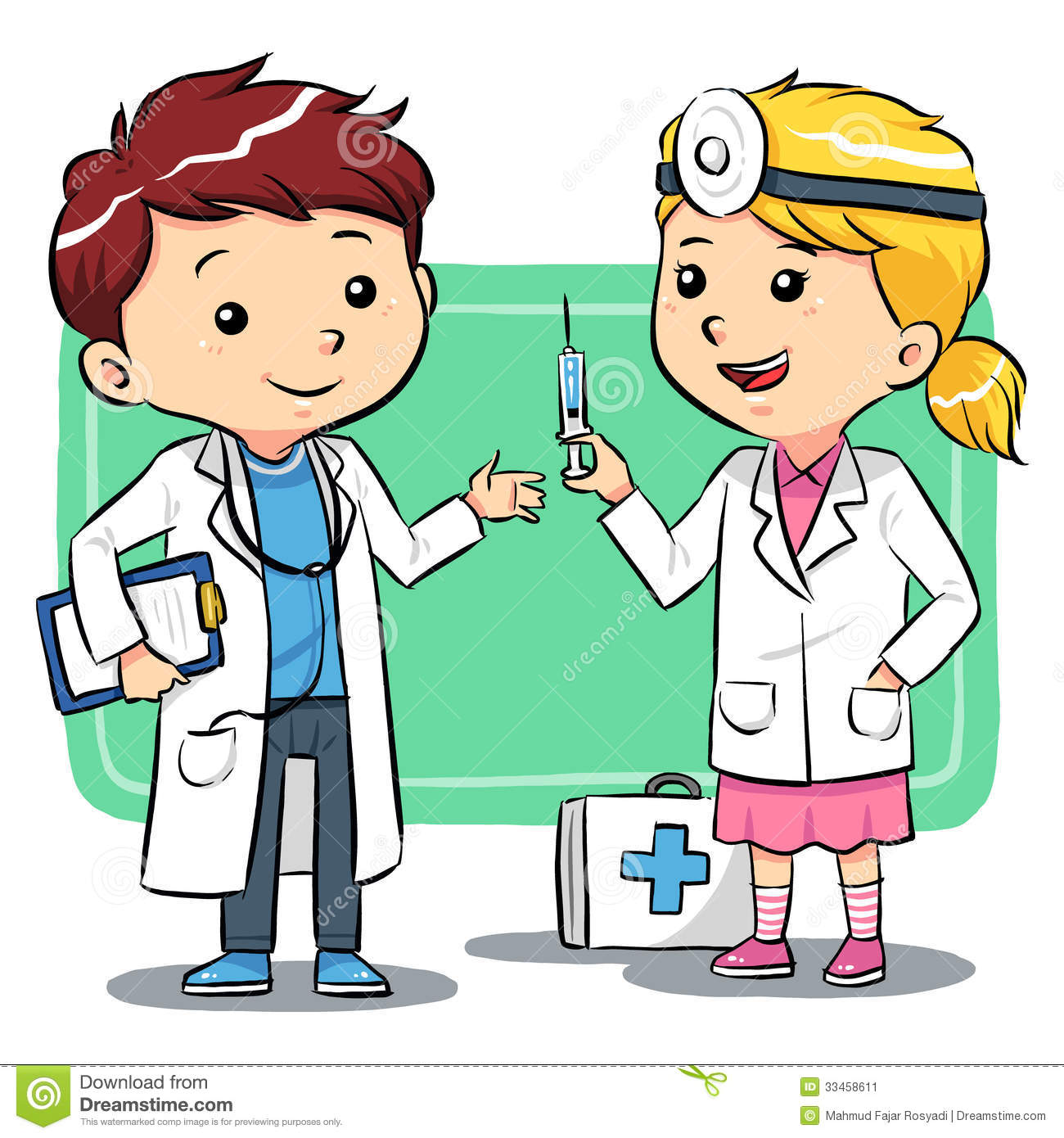 Kids Playing To Be A Doctors