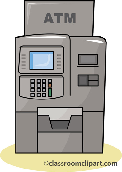 Money   Atm Bank Machine 1110   Classroom Clipart