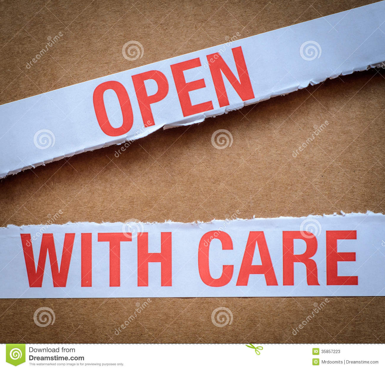 Open With Care Package Stock Photos   Image  35857223