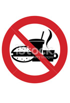 Poster Forbidden To Eat And Drink  Do Not Drink  Do Not Eat  Sign