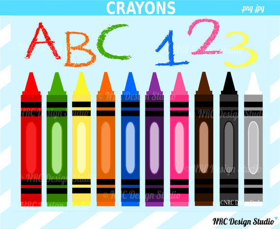 Cute Crayons Clipart - Clipart Kid