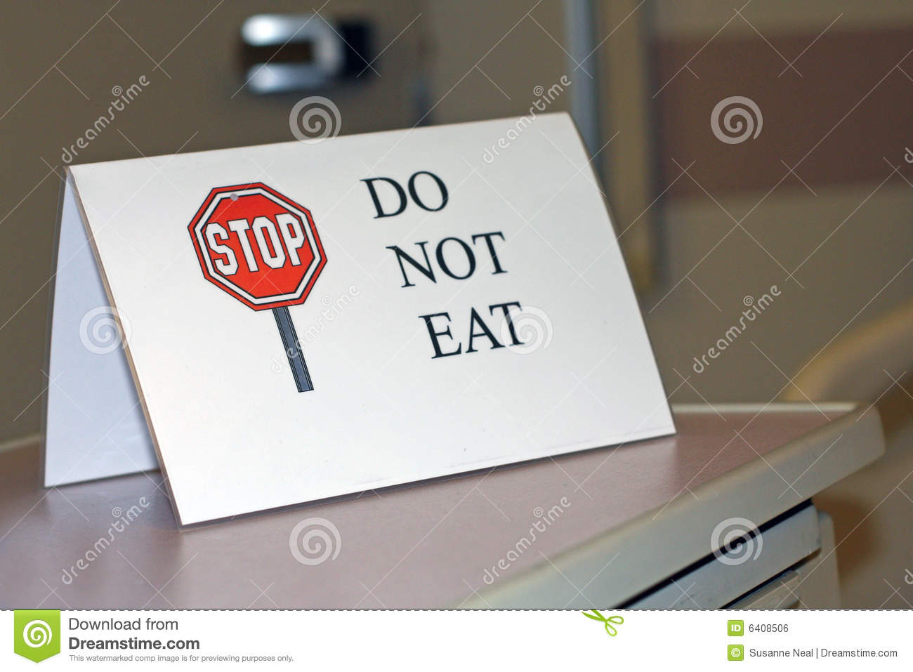 Sign Says Do Not Eat Royalty Free Stock Image   Image  6408506