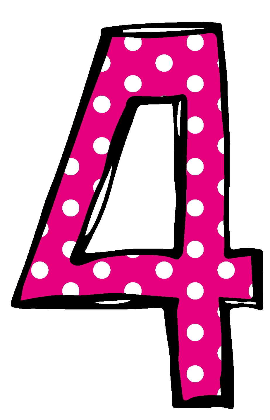 Pink Number 3 Clipart - Clipart Kid