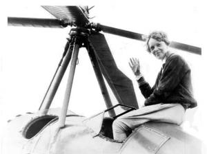 Amelia Earhart After Transcontinental Flight 1932 Clipart
