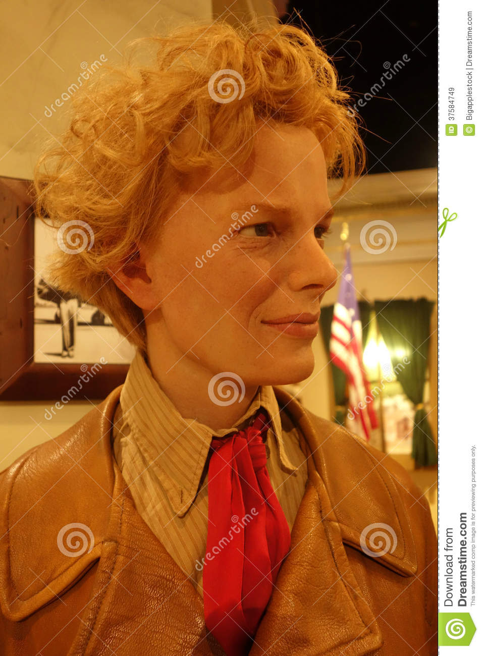 Amelia Earhart Wax Figure Editorial Stock Image   Image  37584749