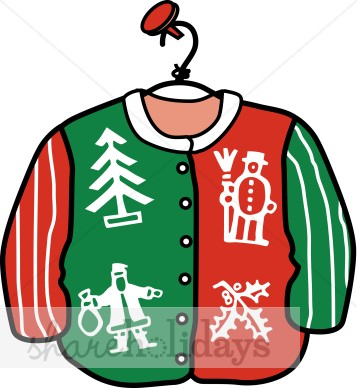 Clip Art Ugly Christmas Sweater Clipart christmas sweater clipart kid cardigan clipart