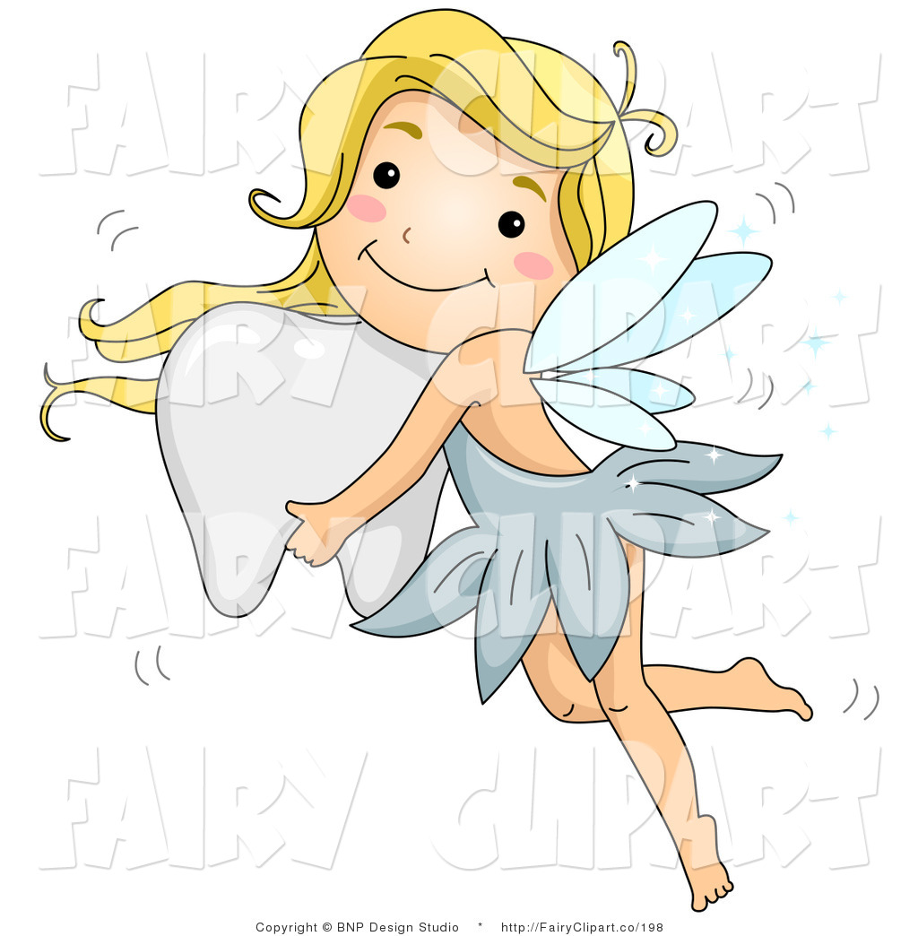 Clip Art Of A Fairy Girl Flying With A Tooth By Bnp Design Studio