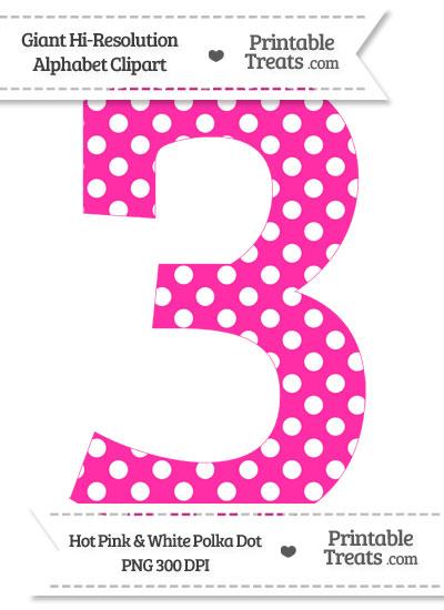 Pink Number 3 Clip Art  U2013 Cliparts