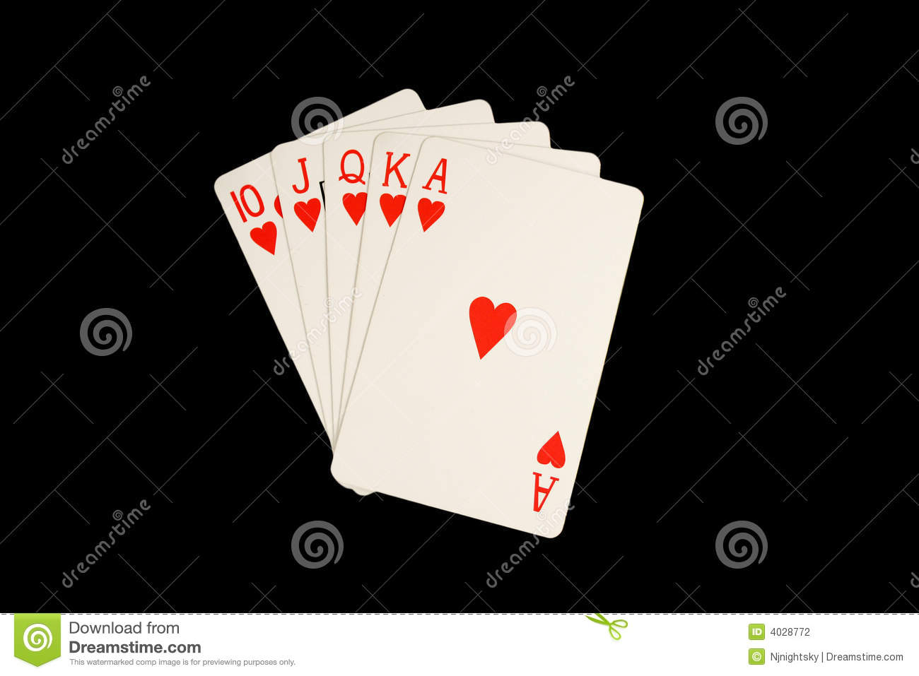 Isolated Royal Flush Poker Hand Stock Photography   Image  4028772