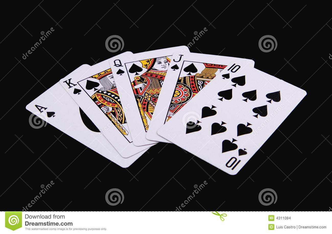 More Similar Stock Images Of   Poker Hand   Royal Flush