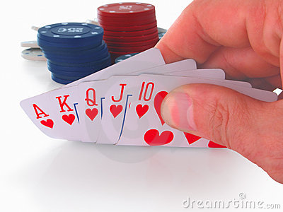 Poker Hand Royal Flush  Royalty Free Stock Image   Image  16839786
