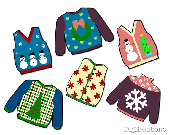 Really Ugly Christmas Sweater Digital Clip Art Clipart Instant