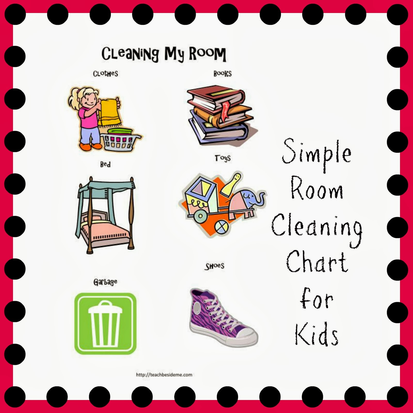 Room Cleaning Chart For Toddlers And Preschoolers   Teach Beside Me