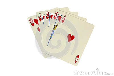 Royal Flush Poker Hand Royalty Free Stock Image   Image  38644826