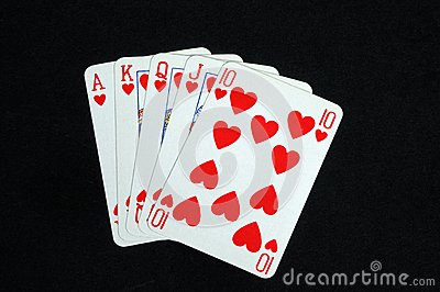 Royal Flush Poker Hand  Royalty Free Stock Photos   Image  30934798