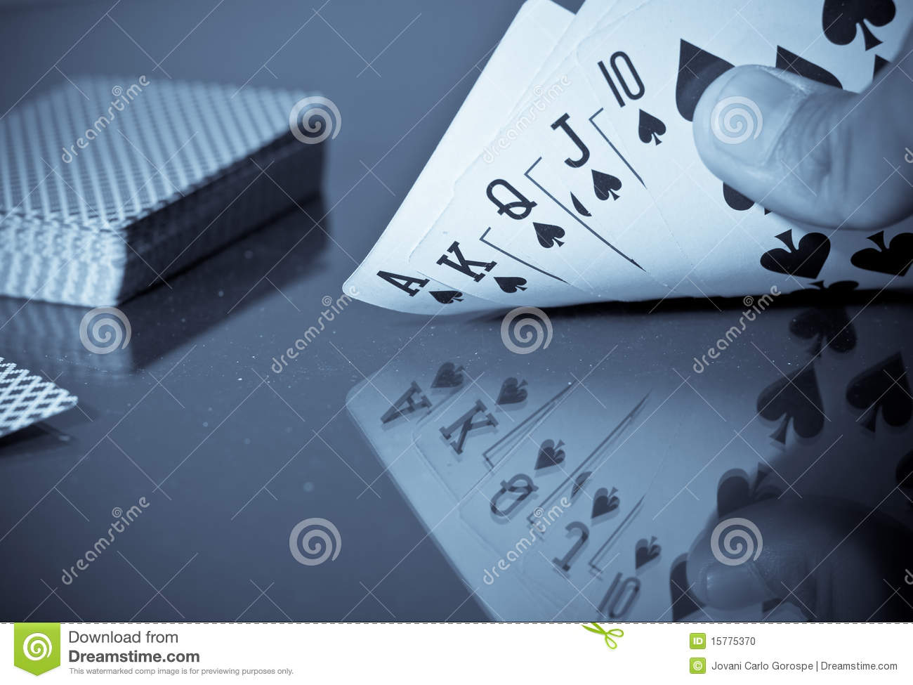 Royal Flush Poker Hand Stock Photo   Image  15775370