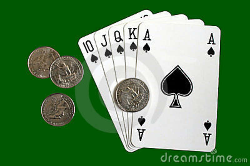 Royal Flush Poker Hand  Stock Photo   Image  4802390