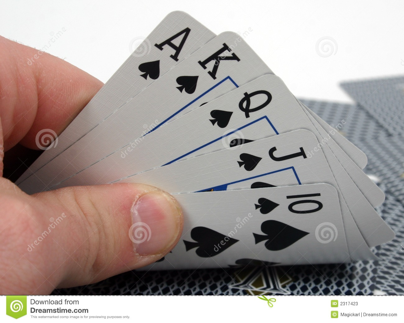 Royal Flush Poker Hand Stock Photos   Image  2317423