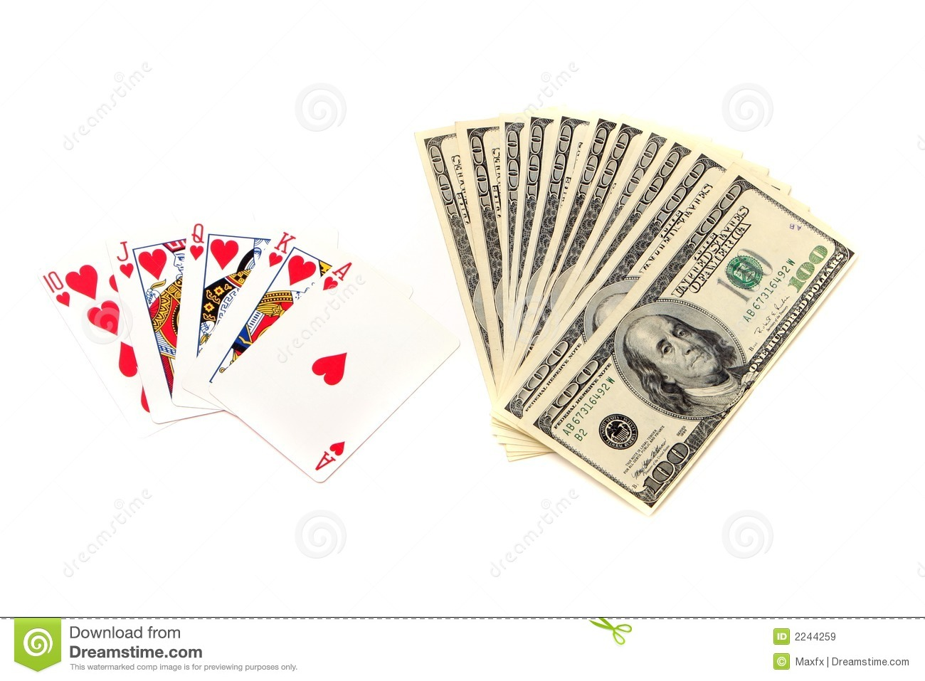 Royal Flush Royalty Free Stock Images   Image  2244259