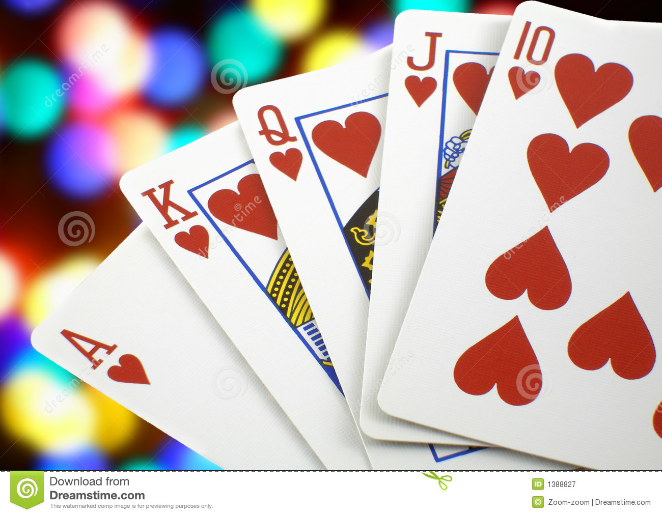 Royal Flush Royalty Free Stock Photography   Image  1388827