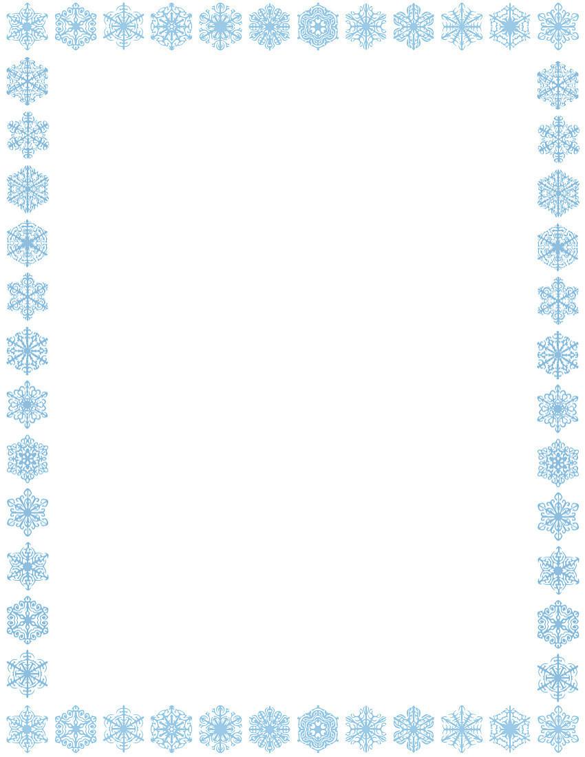 christmas snowflakes border - photo #5