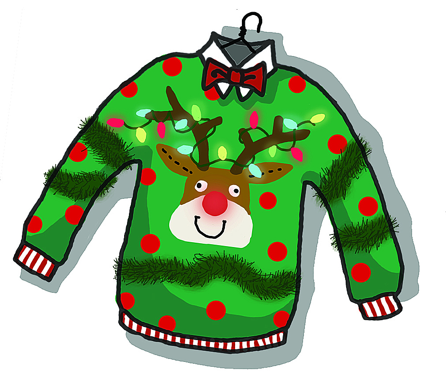 Ugly Christmas Sweater Cartoon Images - Long Sweater Jacket