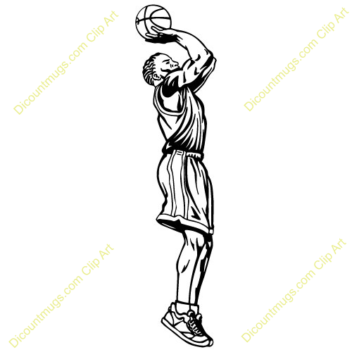 Clipart 13877 Playershooting   Playershooting Mugs T Shirts Picture