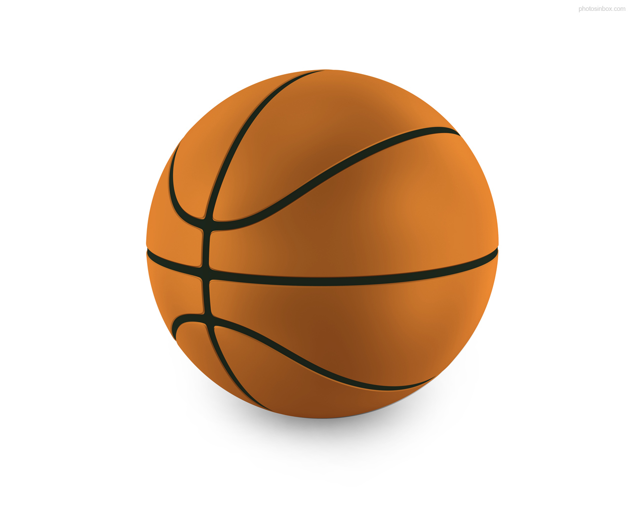 Enlarge Photo  1280x1024px   Isolated Basketball Ball