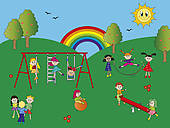 Playground Stock Illustrations   Gograph