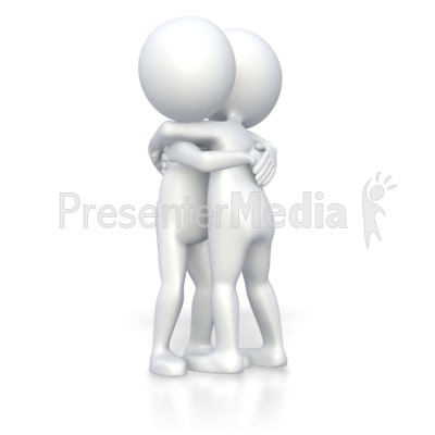 Stick Figures Giving Hug   3d Figures   Great Clipart For
