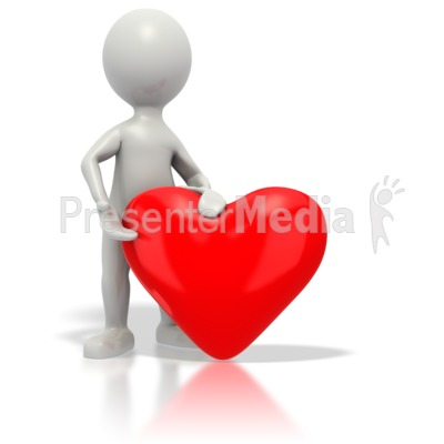 Stickman Giving Red Heart   Home And Lifestyle   Great Clipart For