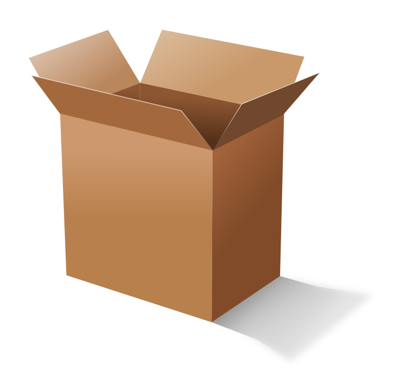 Cardboard Box By Molumen   An Open Cardboard Box  This Is A Redraw Of