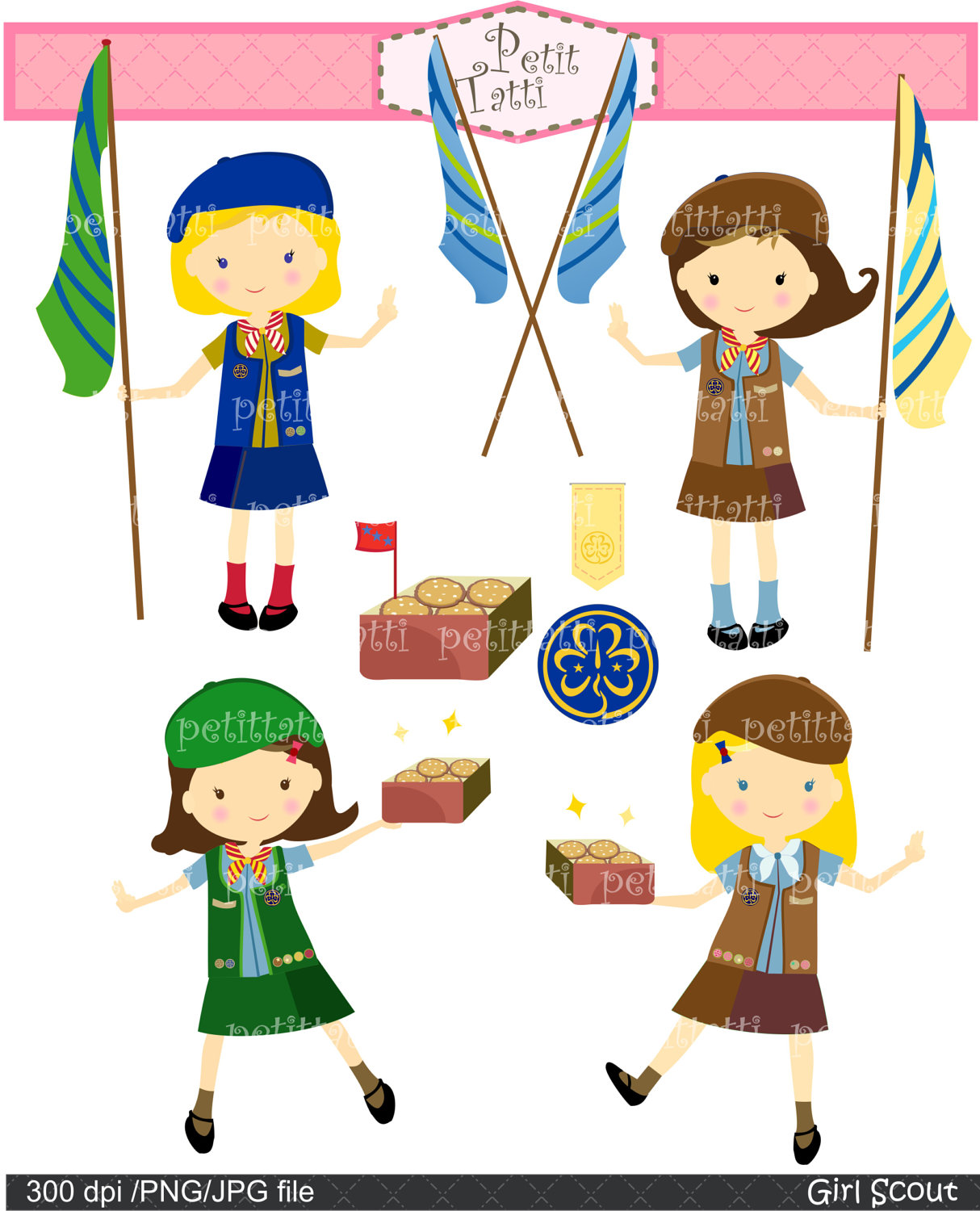 daisy girl scouts clip art   imgkid     the image
