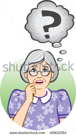 Confused Senior Woman Stock Vector Illustration 40912294