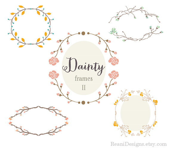 Dainty Clip Art Frames   This Busy Life