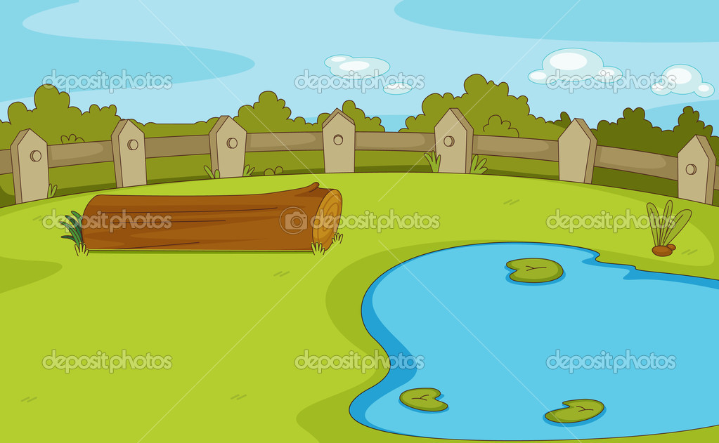 Pond Scene Clipart - Clipart Kid