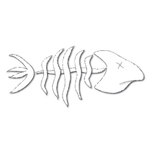 Fish Skeleton Clipart - Clipart Kid