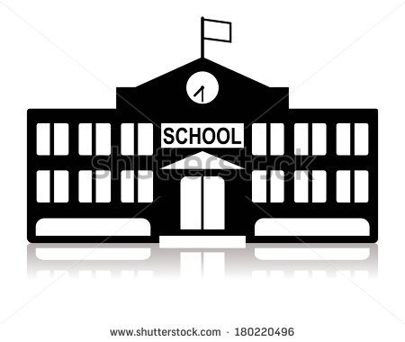 Library Building Clipart Black And White School Building In Black And