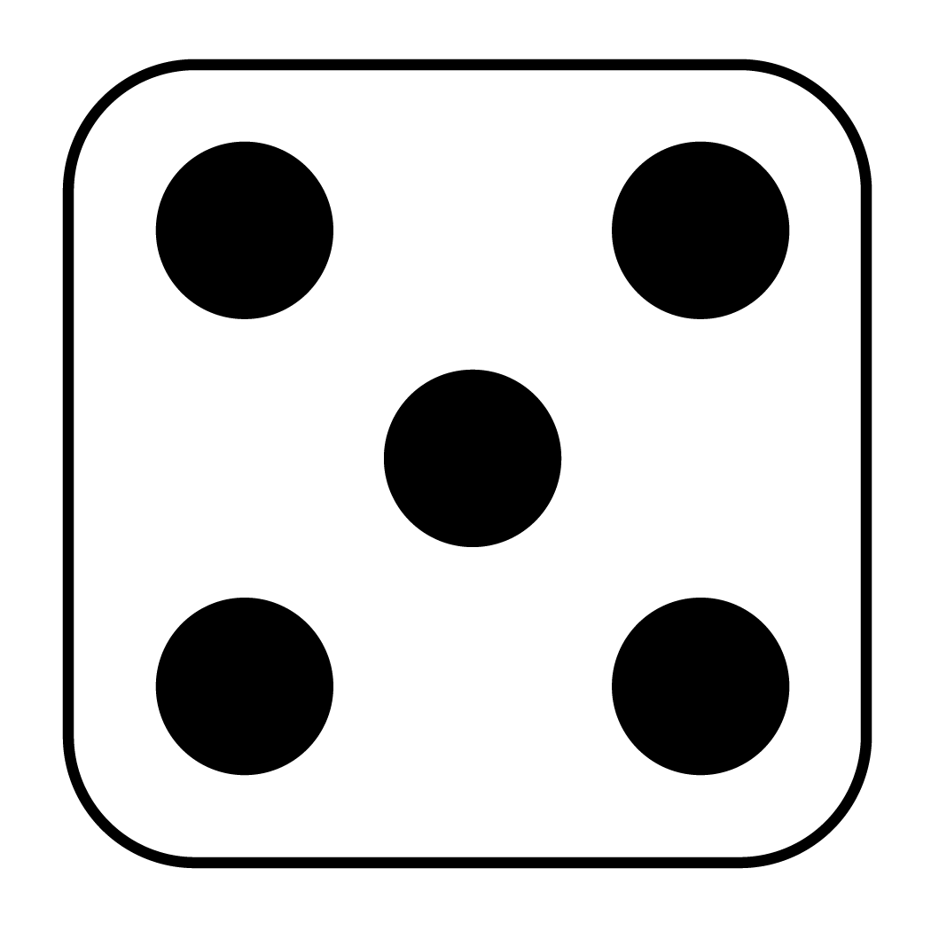 Image Gallery dice showing 5
