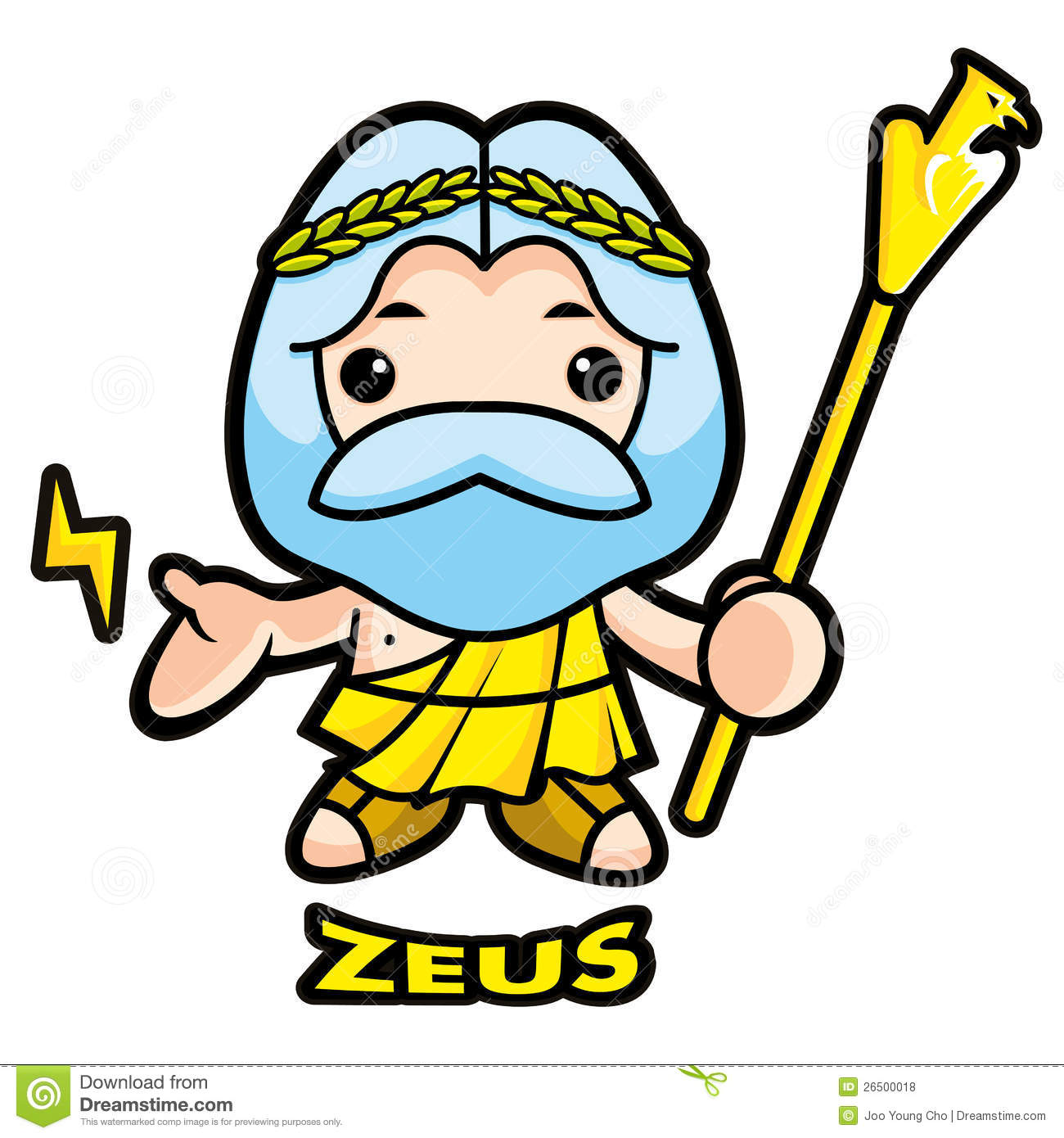Of Sky And Thunder God Zeus Royalty Free Stock Photos   Image