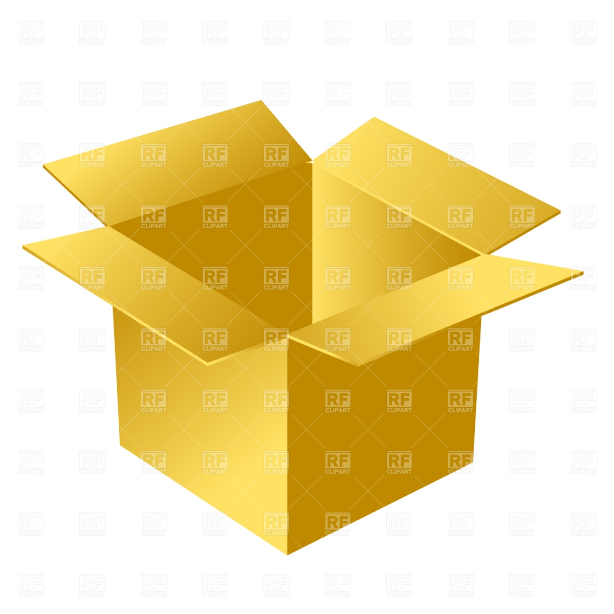 Open Cardboard Box Download Royalty Free Vector Clipart  Eps