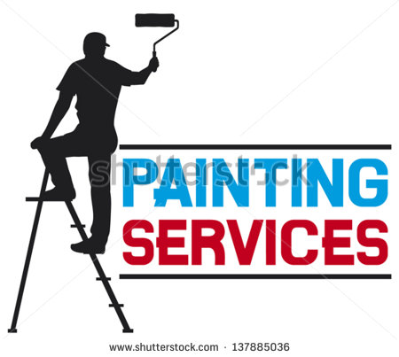 Painting Services Design   Illustration Of A Man Painting The Wall